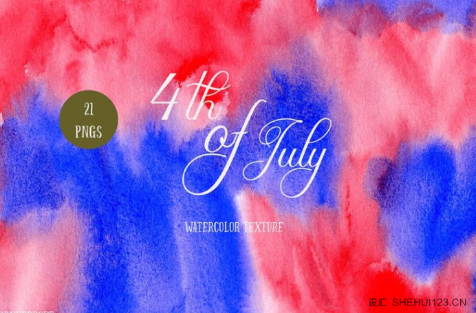 <span class='yzk_title_63376'>水彩背景纹理设计素材墙纸图案 Watercolor Texture 4th of July</span>