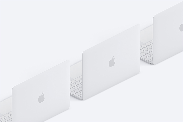 <span class='yzk_title_76675'>电脑样机素材 Clay MacBook Mockup, Isometric Back Right View</span>