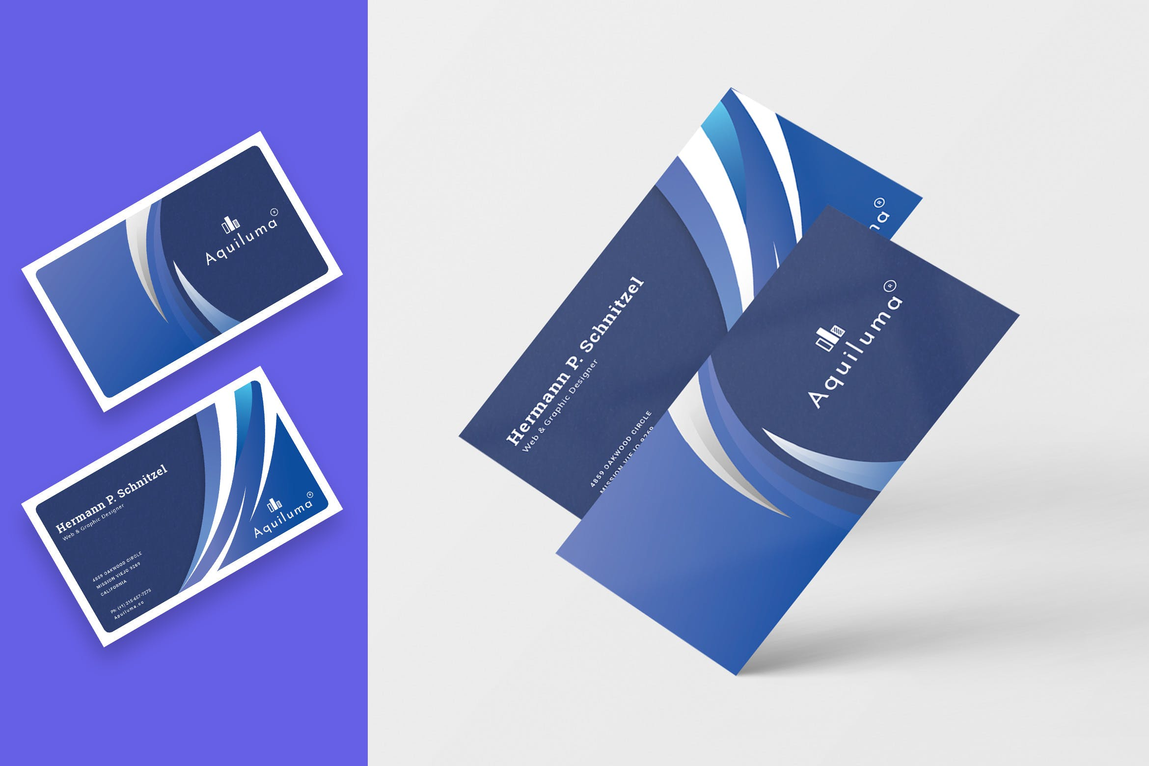 <span class='yzk_title_96493'>抽象几何图形企业名片设计模板 Abstract Business Card Template</span>