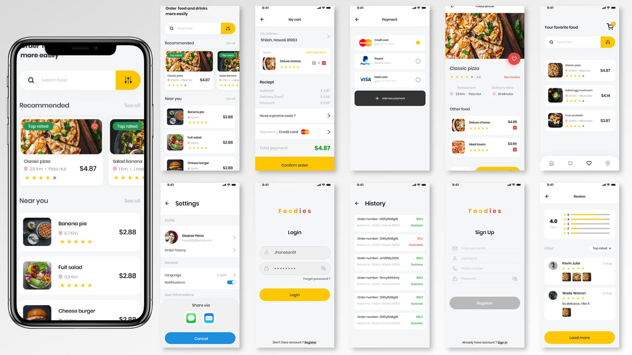 <span class='yzk_title_112675'>简洁实用的美食外卖 APP UI Kit 模板(FIG,SKETCH,XD,SVG)</span>